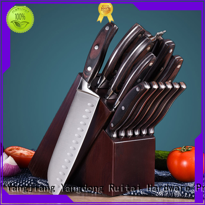 Ruitai k61305t best kitchen knife block set supply for mincing