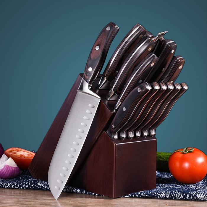 RUITAI 5Cr15MoV High Carbon Steel Professional Chef Knife Set GM1825