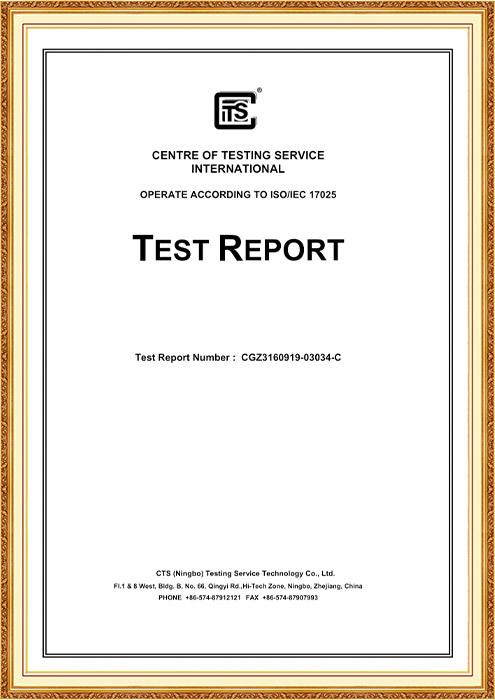 FDA Test Report CGZ3160919-03034-C