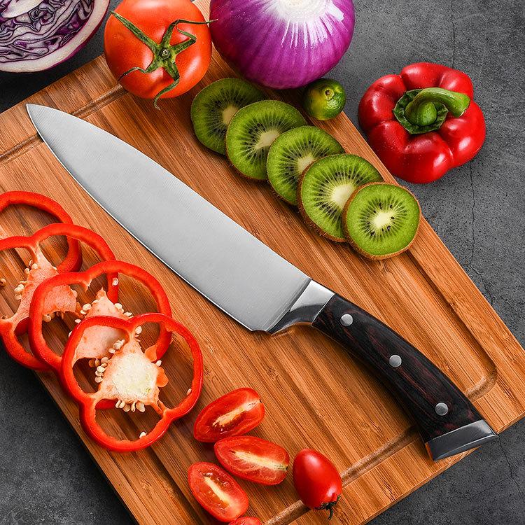 RUITAI Pakkawood Triple Rivets Forged Global Chef Knife GM1605