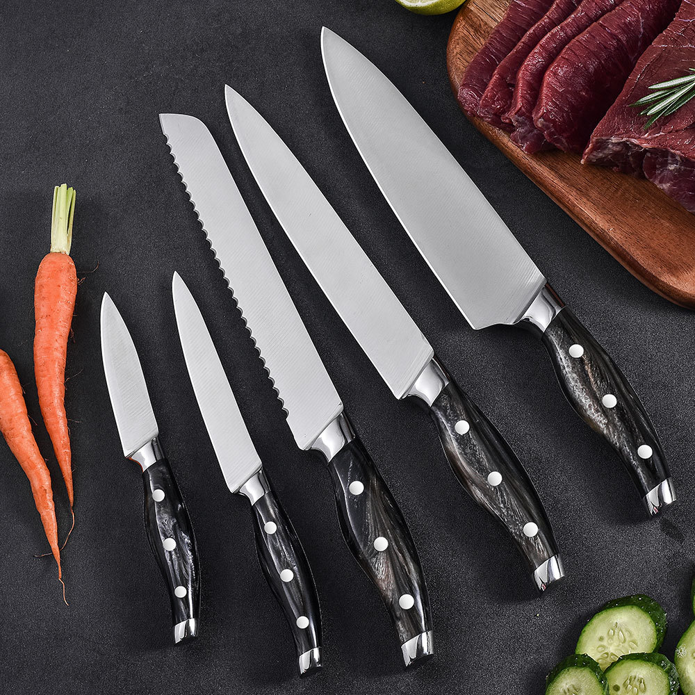 Precision-forged 5 pieces knife set with resin handle Ruitai GM1823-05T