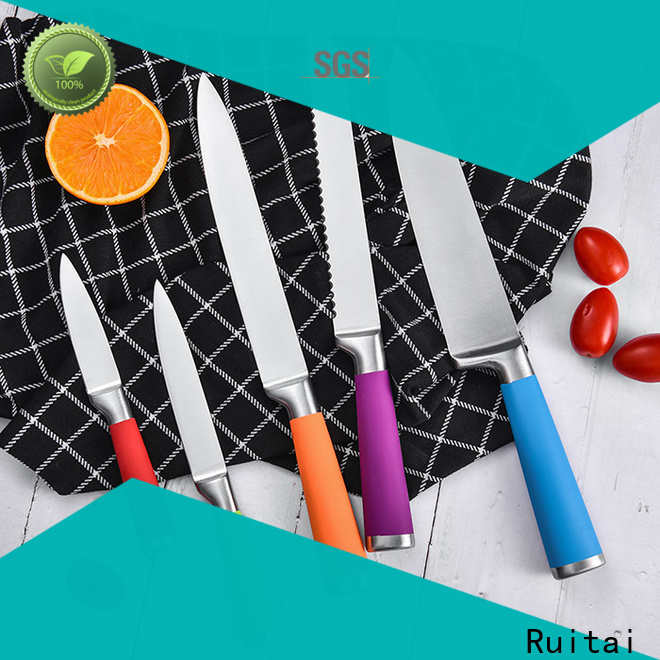 Ruitai Latest colorful knife set with block factory for slicing