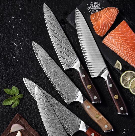 RUITAI Yangjiang manufacturers OEM Kitchen chef knife set damascus GM2033