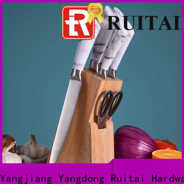 Ruitai marble best butcher block knife set suppliers for chopping