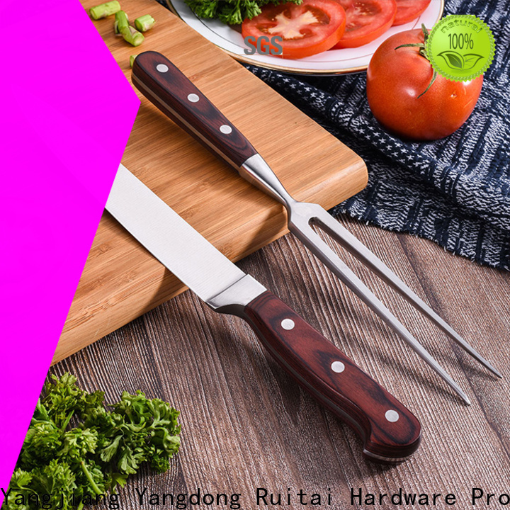 Ruitai Best best butcher block knife set supply for slicing