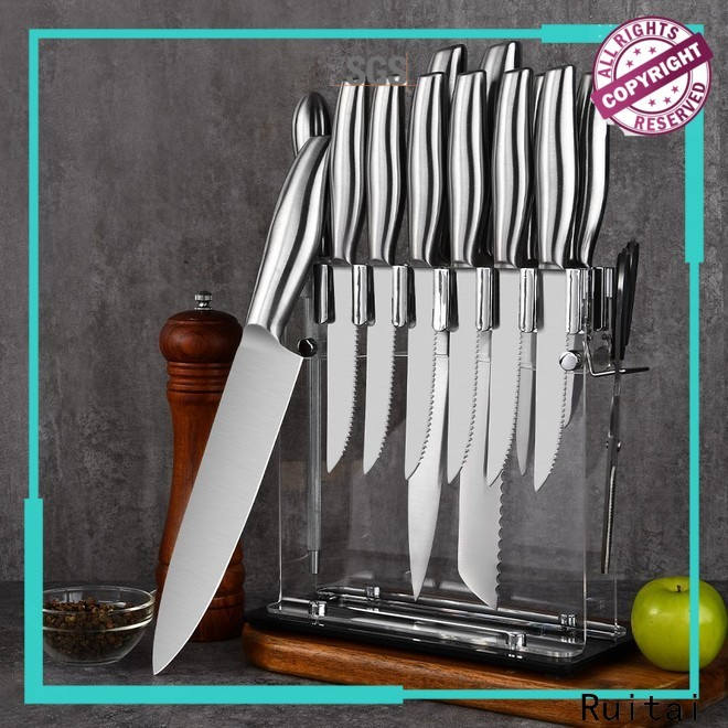 Ruitai Custom good quality chef knife set suppliers for kitchen