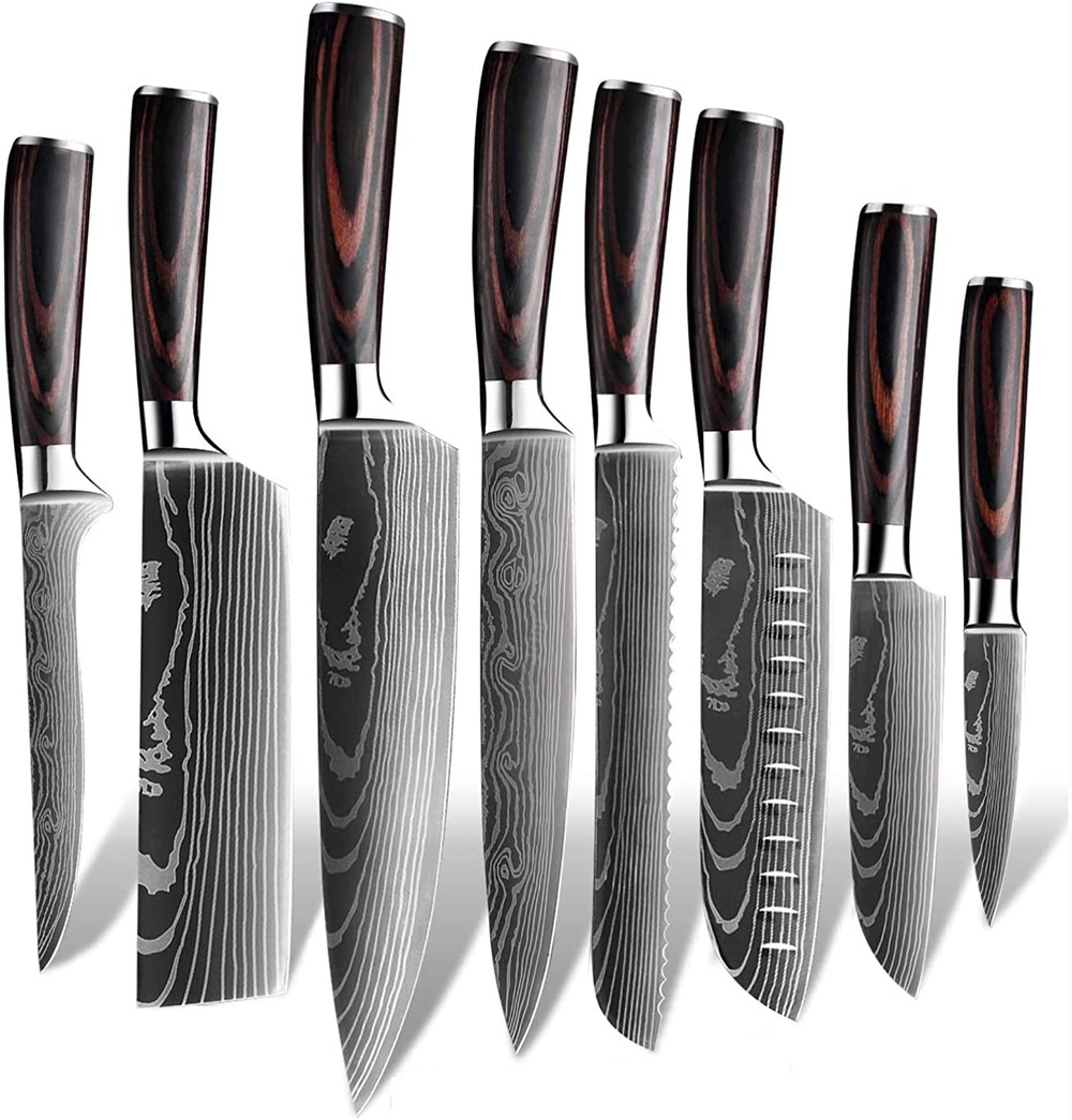 RUITAI amazon top selling OEM damascus kitchen knife set GM1606