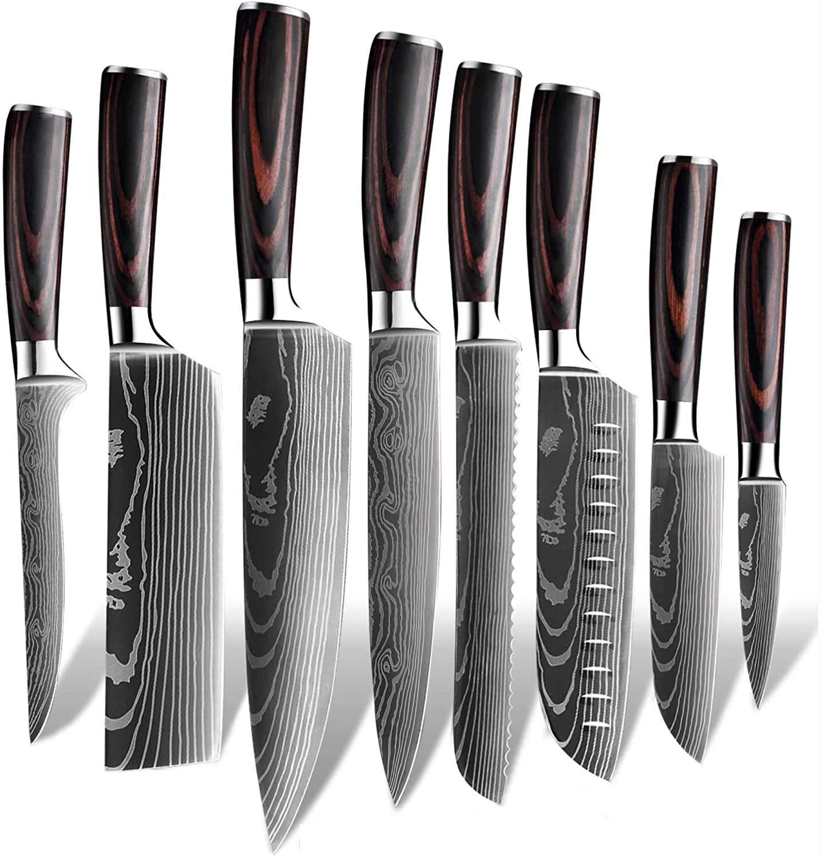 RUITAI amazon top selling OEM damascus kitchen knife set GM1606