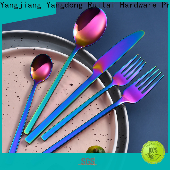 Ruitai High-quality brushed steel cutlery set manufacturers for eating food