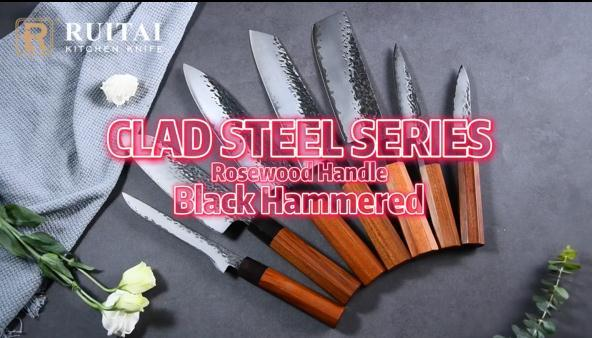 RUITAI High Carbon 9Cr18MoV Steel Professional Forged Japanese Kitchen Chef's knife set WN56