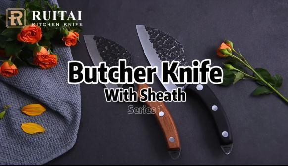 RUITAI Hand Forged Butcher Knife for Meat Cutting