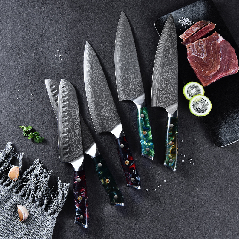 2021 Hot selling handmade damascus steel knives professional 10cr15mov vg10 chef damascus steel knife