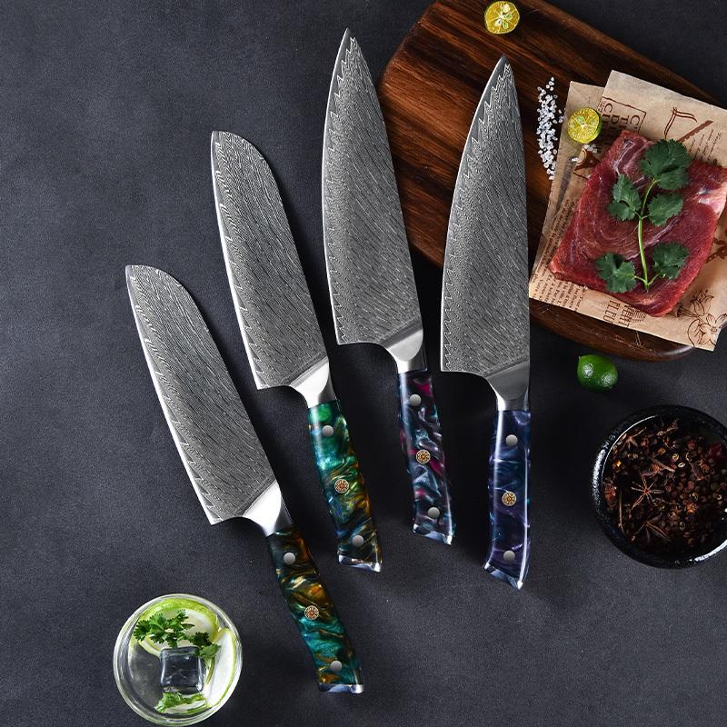Ruitai Unique design 8 Inch 10cr15mov damascus steel chef knife