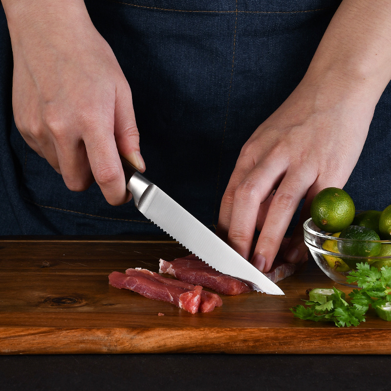 RUITAI Hot sales forged 430 steel kitchen 5 pieces pakkawood japanese kitchen knives set