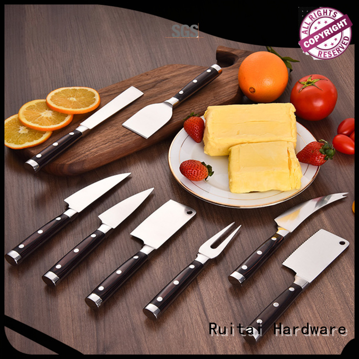 Ruitai ss engraved cheese knife set for business for cook