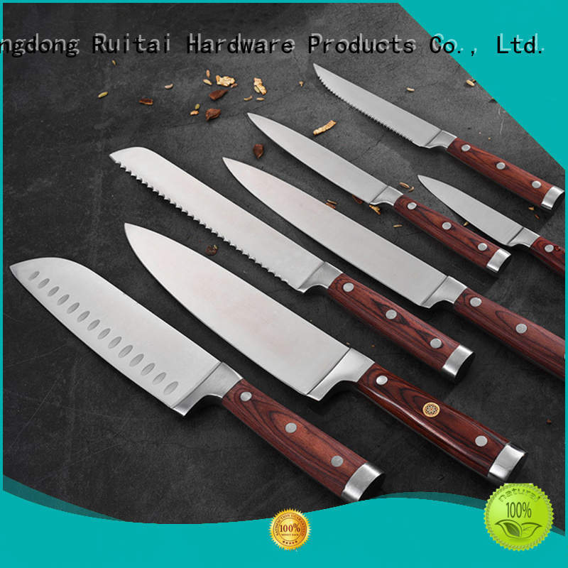 Ruitai k178306t good quality cutlery set company for chopping