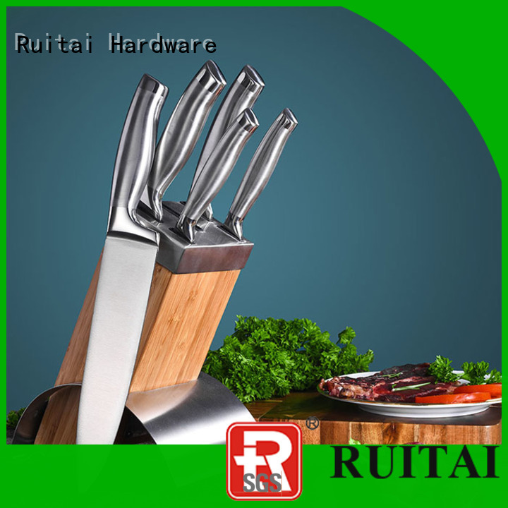 Ruitai hollow kitchen cutlery knife sets factory for mincing