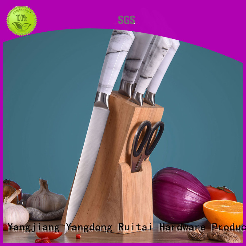 Ruitai x5cr15mov kitchen knife set reviews factory for cook
