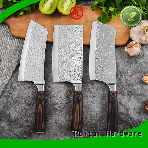Wholesale top rated knife block set forged for business for chopping
