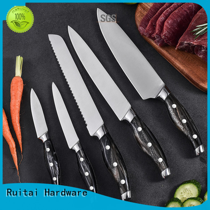 Ruitai Best colorful knife set with block suppliers for slicing