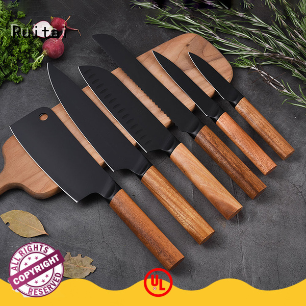 Wholesale knife block set with steak knives m100703t for business for chopping