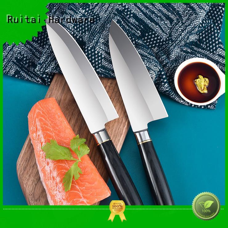 Ruitai handle cool knife block set supply for slicing