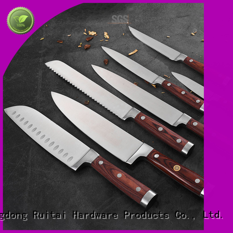 Ruitai block best budget kitchen knife set suppliers for mincing