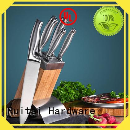 Ruitai 5pcs quality knife block set factory for mincing