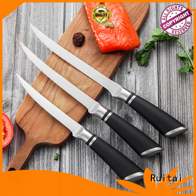 High-quality knife block set with steak knives chopper suppliers for slicing