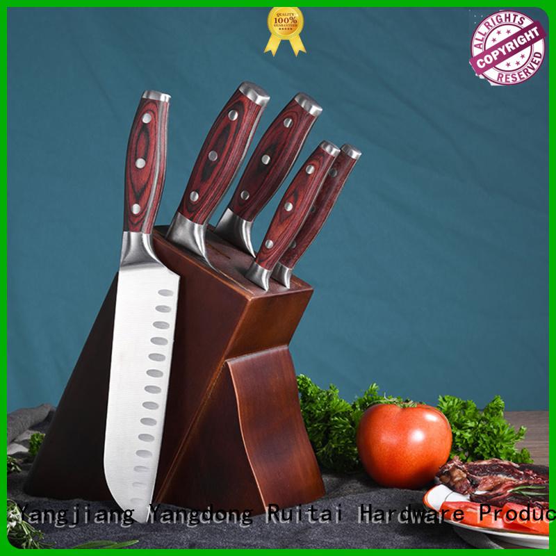 Ruitai ergonomic best butcher block knife set suppliers for chef