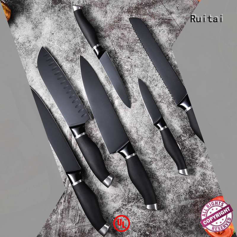 Ruitai wave colorful knife set with block suppliers for slicing