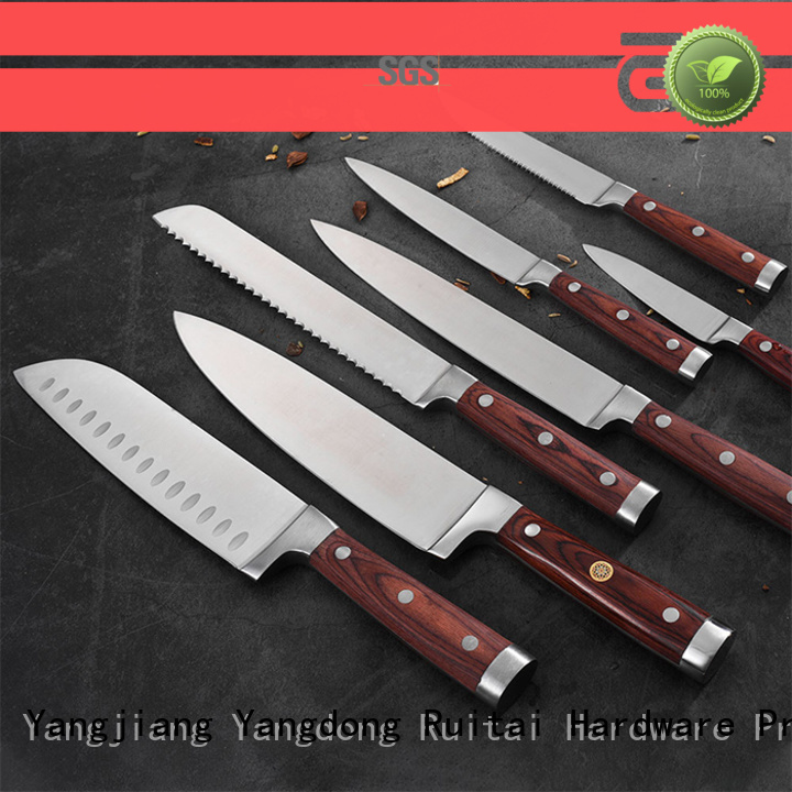 Ruitai Top chef knife gift set factory for mincing