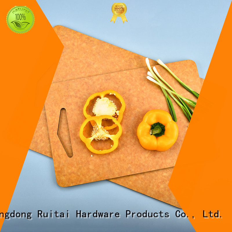 Ruitai wooden chopping board with handle factory for family