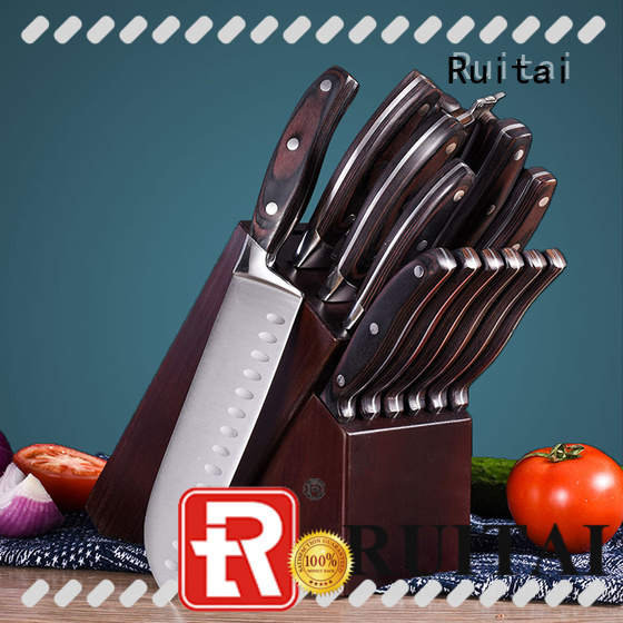 Custom best kitchen cutlery set wood company for chef