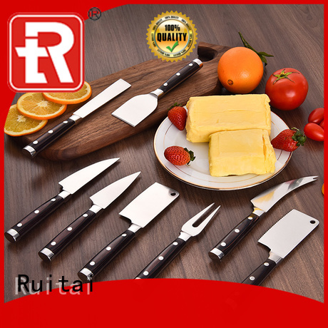 Ruitai ss rosle cheese knife set supply for kitchen