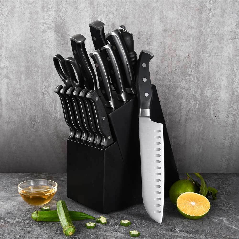RUITAI Stainless Steel Chef knife set with wooden block Customized Box Stainless GS906
