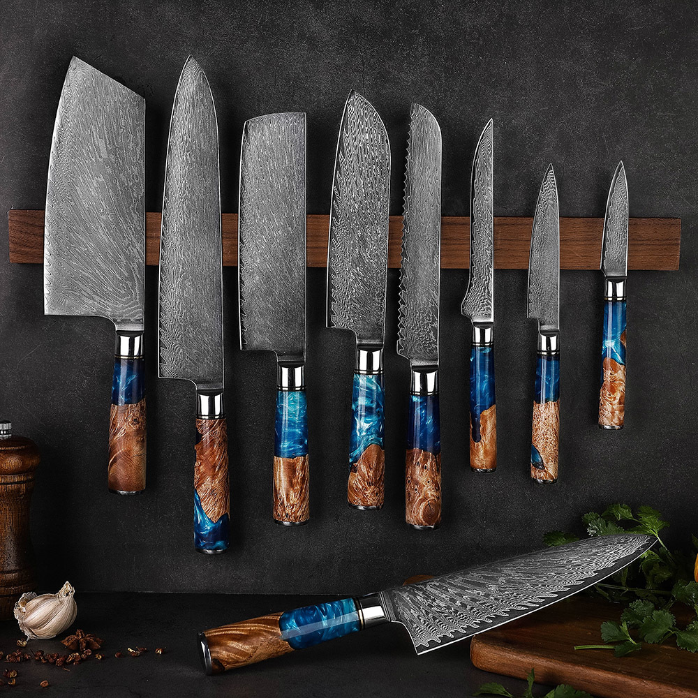 RUITAI Hot Sale High Quality 9 Inch Damascus Steel Kitchen Knife Set WN45