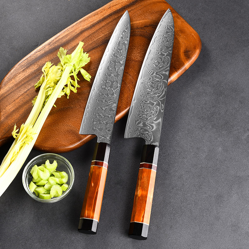 RUITAI Luxury Cocobolo Handle Damascus Steel Knife Chef Cooking 67Layers Japanese Kitchen Damascus Chef Knife WN110-3