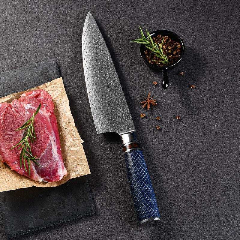RUITAI Professional 9Cr18Mov Stainless Steel Chaku Kitchen Knife Set WN159