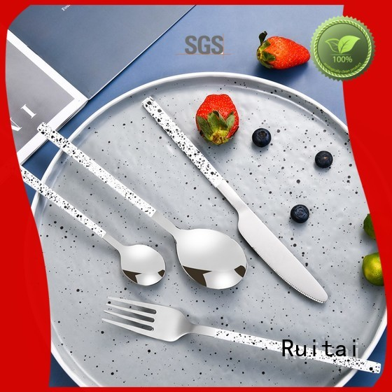 Ruitai black knife and fork set for business for party use